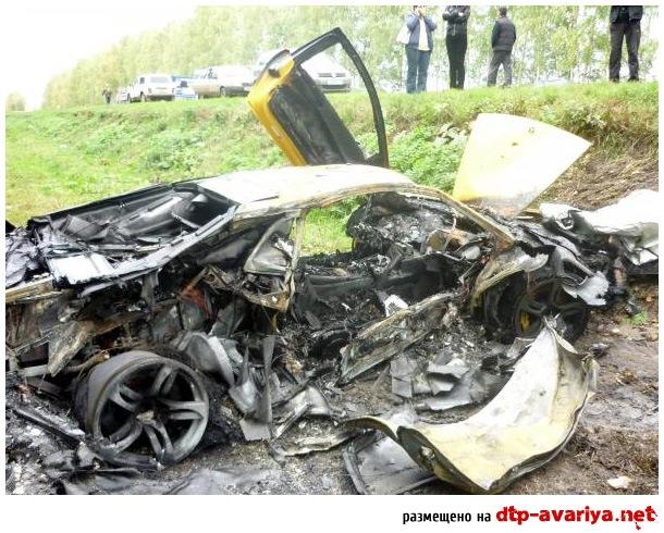 Под Нижним Lamborghini столкнулся с Chevrolet и сгорел
