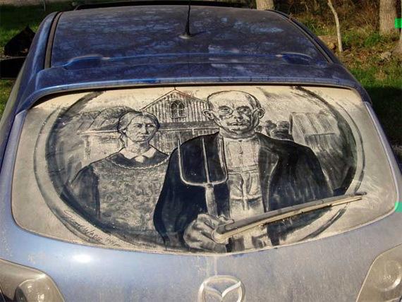 Картины на грязных машинах