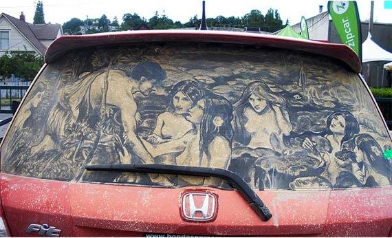 Картинки на грязных машинах