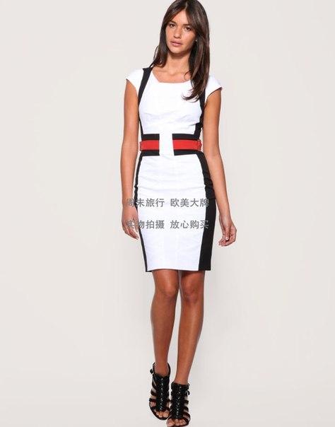 Черно белое с красным платьем