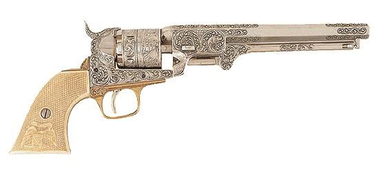 ...D / 1040 B изготовлен Кольтом, 1851 год.  (США) рукоять под кость.