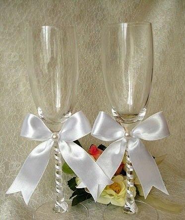 Фото свадебных фужеров своими руками