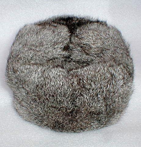 Шапка Ушанка Меховая шапка из меха светло-серого (серебристого.