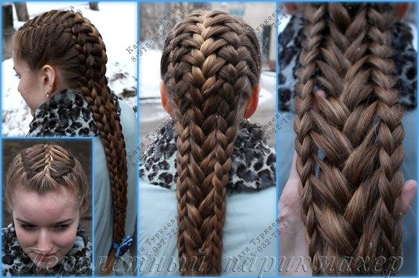 Погадаем над плетением коса от