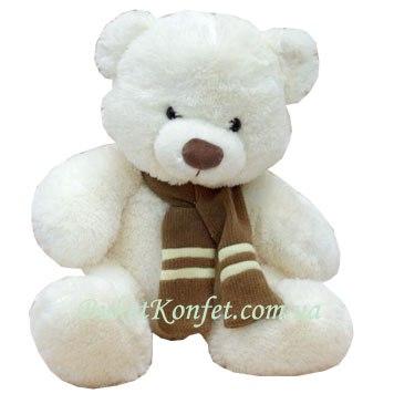 Мягкая игрушка - Белый мишка - Заказ букетов цветов