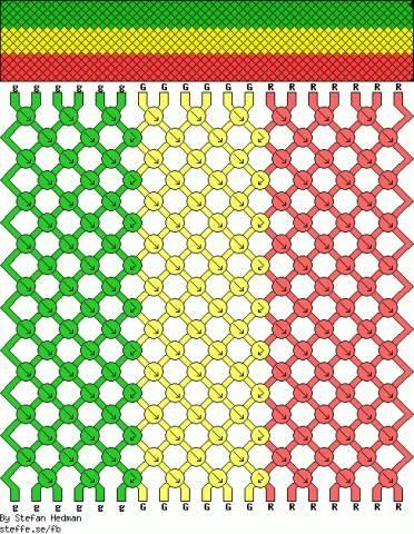 Схемы плетения фенечек из