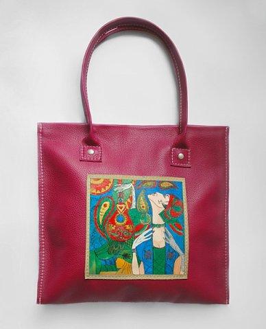 Стильная женская сумка из натуральной кожи с одной ручкой от Abbacino.