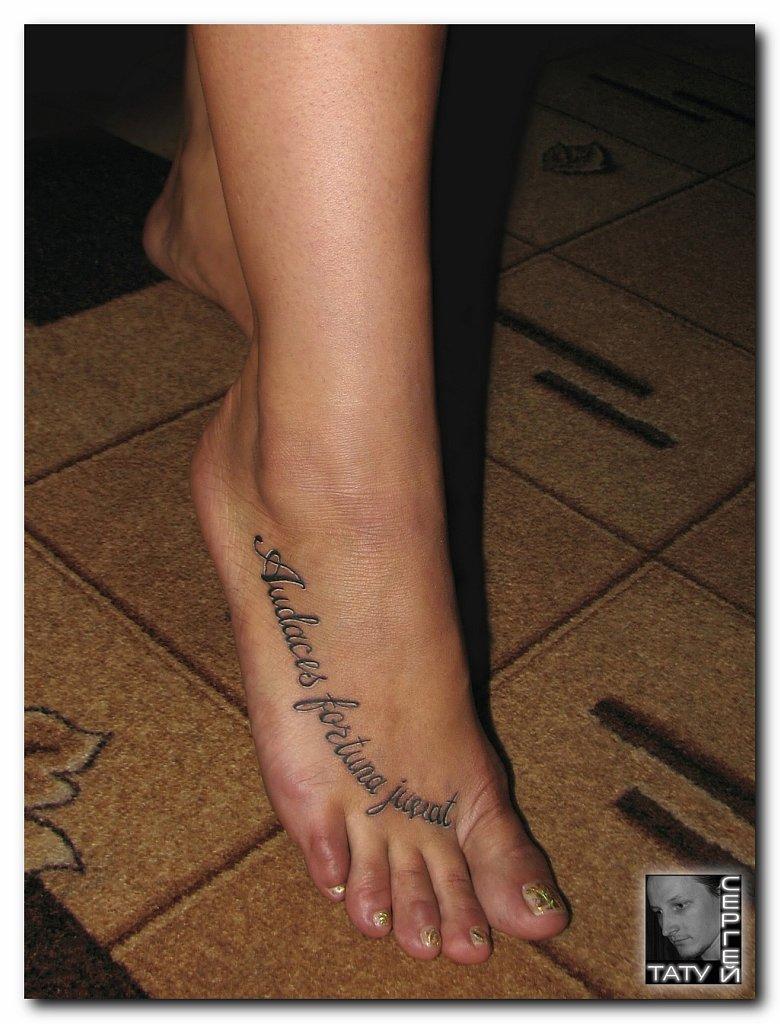Надписи татуировок на ноге фото