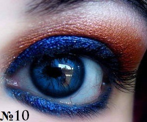 Макияж синих глаз.
