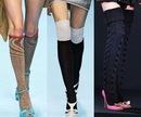 С чем носить длинные гольфы/ носки выше колена?