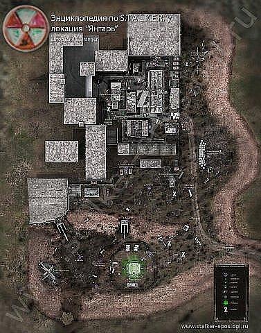 Лаборатория Х-16. Карта побережья Янтарного озера из Теней Чернобыля. Не