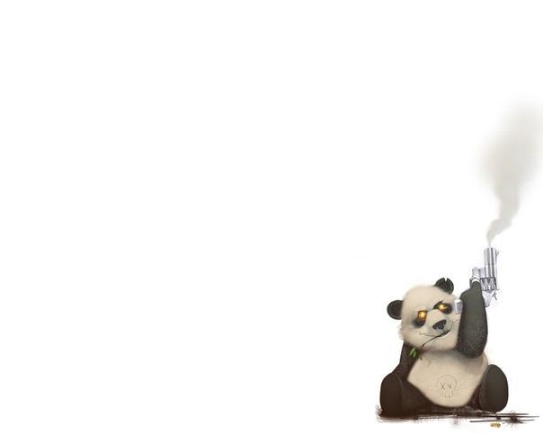 Злая панда рисунок смотрите также