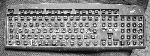 грязная клавиатура
