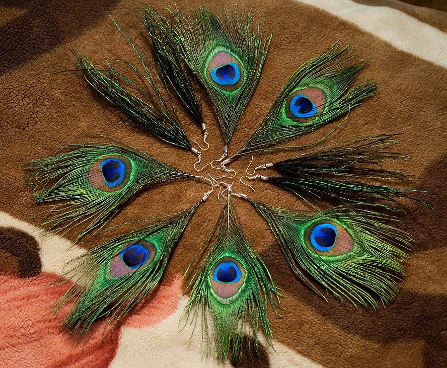 Поделка павлинье перо