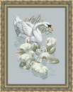 Набор для вышивки крестом Лебедь и птенцы.