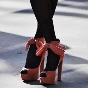 Красивые женские туфли на высоком каблуке.  Шикарные модели 2012 - фото.