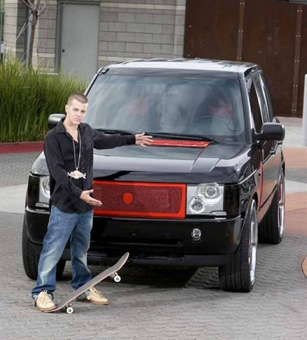 Ryan Sheckler's Black Range Rover