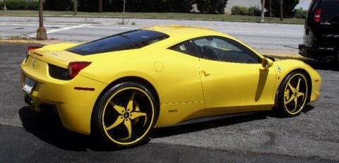 Gucci Mane's Yellow Ferrari 458 Italia