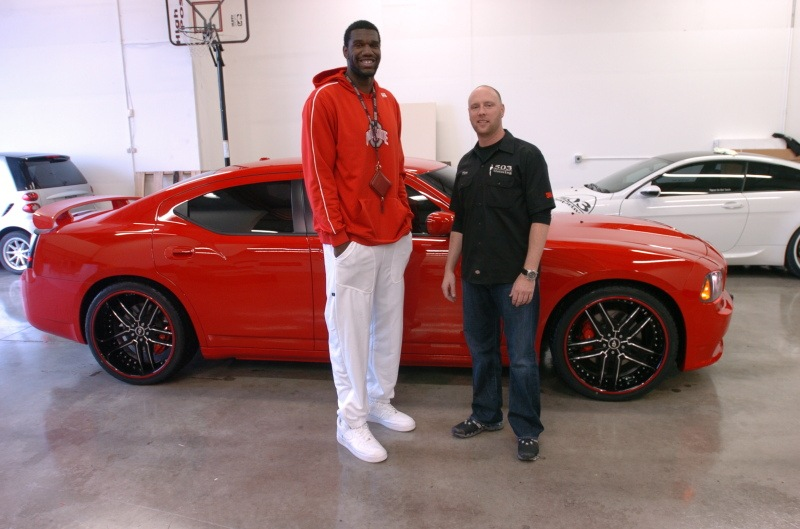#1 pick Greg Oden and his Charger