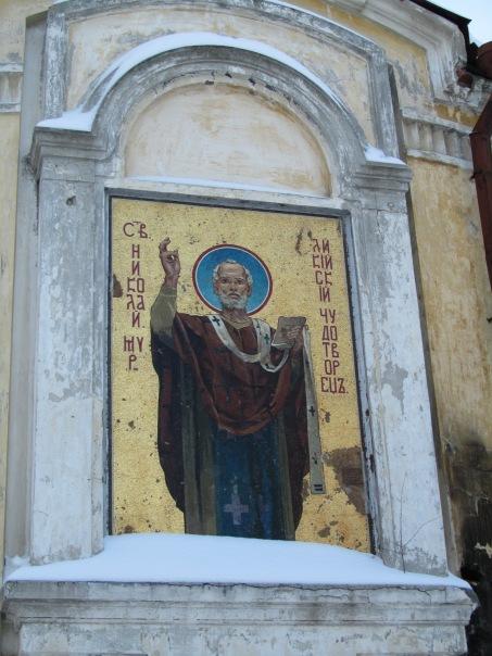 Фреска Николая Чудотворца на храме Андрея Критского