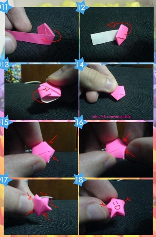 оригами подробная схема журавлика.