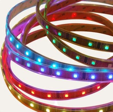Скидка на светодиодную ленту RGB (Многоцветную)!  Свежие новости.  5 метров многоцветной светодиодной ленты с блоком...