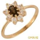 Золотые кольца Золотые кольца с топазами золото циркон раухтопаз...