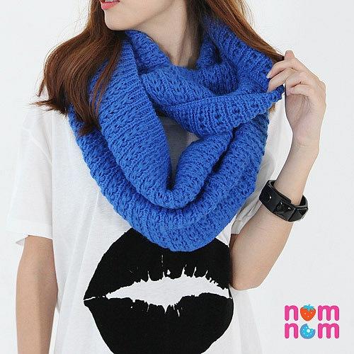 схемы вязания шарфа хомута спицами.