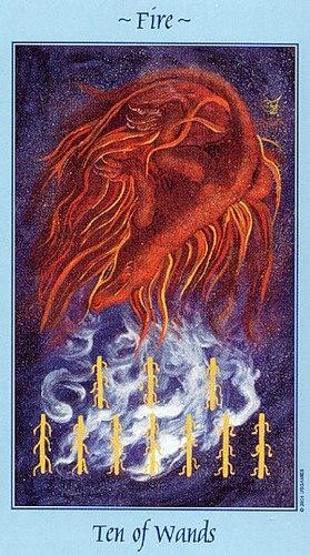 значение карты таро рыцарь огня