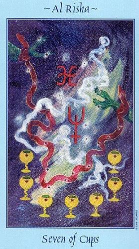 значение карты семь кубков чаш таро толкование