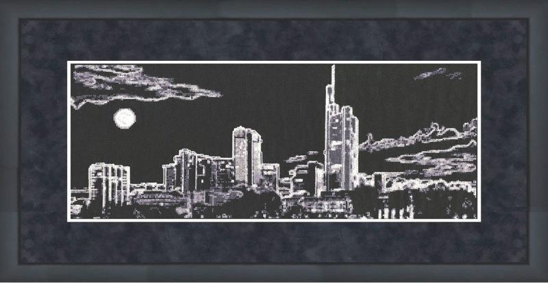 Золотое руно.  Набор для вышивания С-007 Ночной город.  Скачать бесплатно.