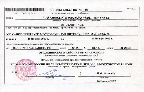 Справки о временной регистрации шенгенская виза по временной регистрации
