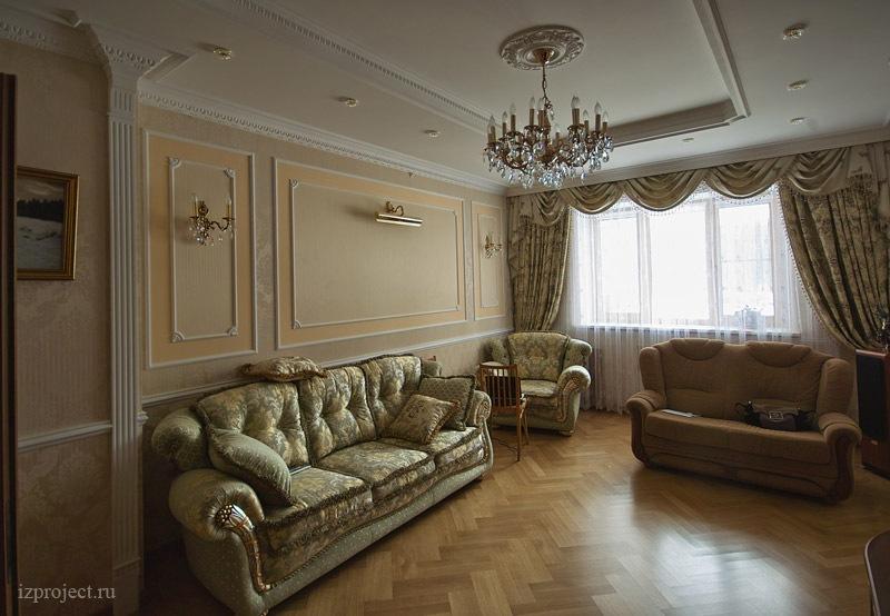 Дизайн гостиной 21 кв м в классическом стиле