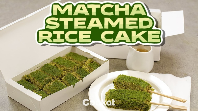 [COOKAT] Matcha Steamed Rice Cake