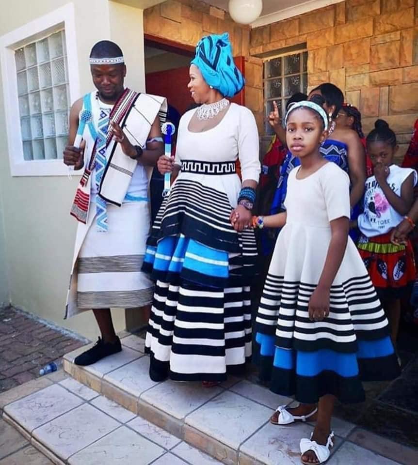 Modern Shweshwe Traditional Wedding Dresses \u2013 DACC