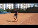 Разминка для теннисистов на корте