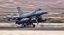 F-16 Fighter Jets Preflight Takeoff/Landing At Nellis AFB