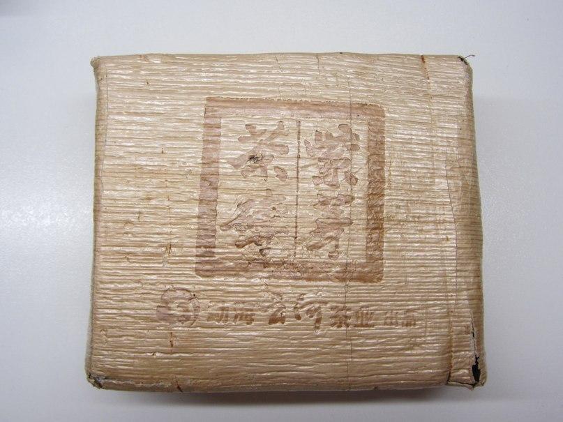 чай шу пуэр в бамбуке