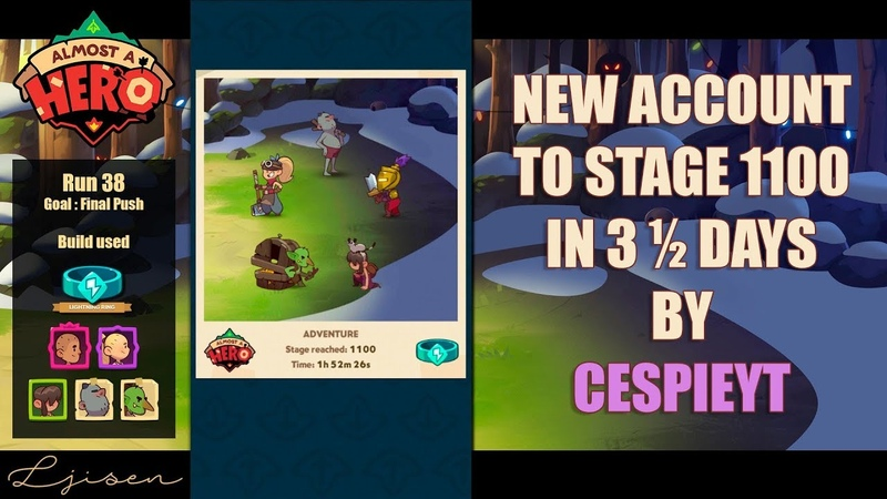 Almost a Hero New account reaching 1100 in 3 ½ days Cespieyt s Ultimate Speedrun