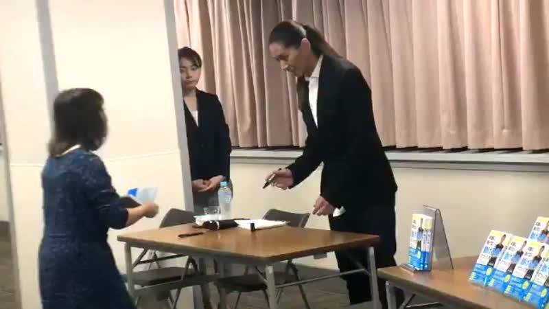 東京交通会館12FにてただいまSAMさんの書籍販売記念イベント中 サイン会盛り上がっています
