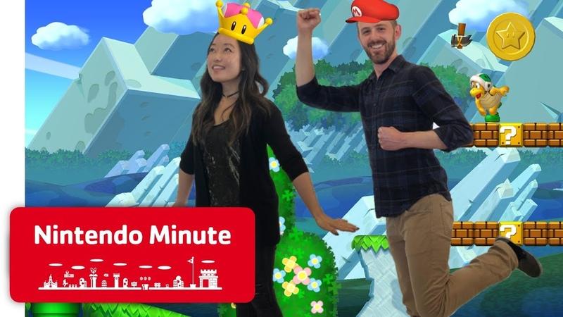 New Super Mario Bros. U Deluxe Co-op Gameplay - Nintendo Minute