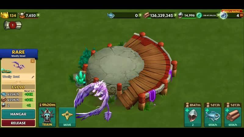 Woolly Howl Max Level 134 Titan Mode _ Dragons_ Rise of Berk