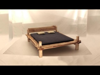 Fun to assemble a wooden BED - Like a LEGO, but for Adults