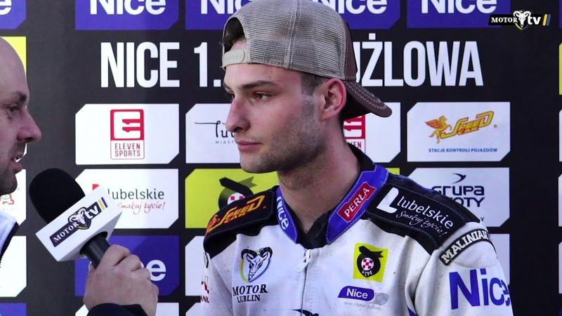 Oskar Bober po meczu z ROW Rybnik | 27.04.2018