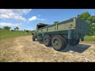 Bisofication Truck M35A2 U.S. Army BeamNG Drive Mod.