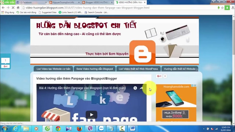Hướng dẫn tạo hiển thị tổng số bài viết và comment trên Blogspot - nguyentruongson.info