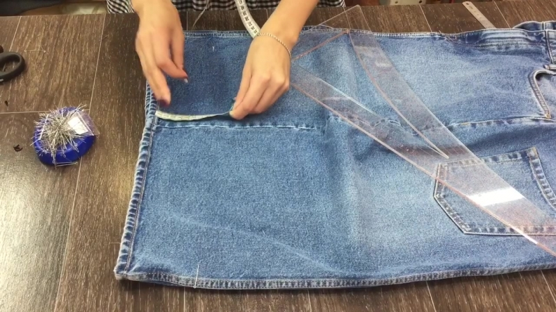 Укорачивание юбки