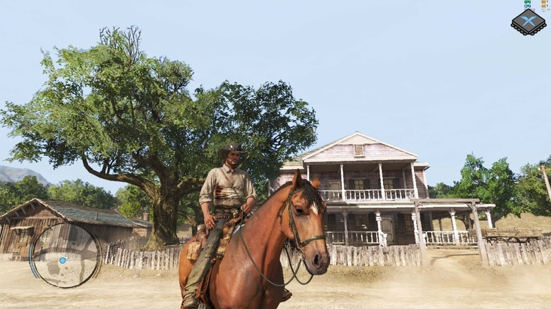 Xenia Xbox 360 Emulator - Red Dead Redemption Ingame / Gameplay! (Vegetation fixed / up to 60fps)