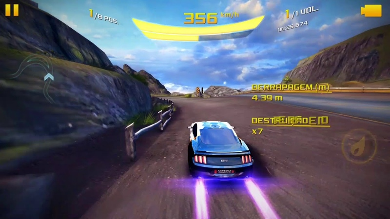 Asphalt 8 - The River Fort Cup   Ford mustang • 125.008