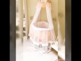 ♥Бэлла ♥  в круглую/овальную кроватку-трансформер, Цвет- персиковый